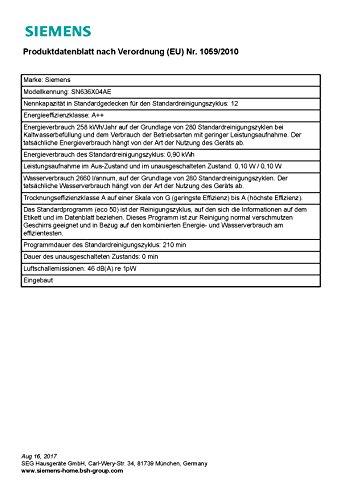Siemens iQ300 SN636X04AE Geschirrspüler Vollintegriert A++ - 6