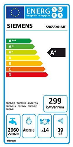 Siemens SN658X01ME Geschirrspüler Vollintegriert/A+ / 299 kWh/Jahr / 2660 L/jahr/Dosier-Assistent; Wärmetäuscher; dreiteliges Filtersystem; TimeLight - 3