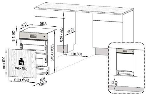 Beko DSN28431X Geschirrspüler Teilintegriert / A+++ / 237 kWh/Jahr / 2660 l/Jahr / AquaIntense - 7