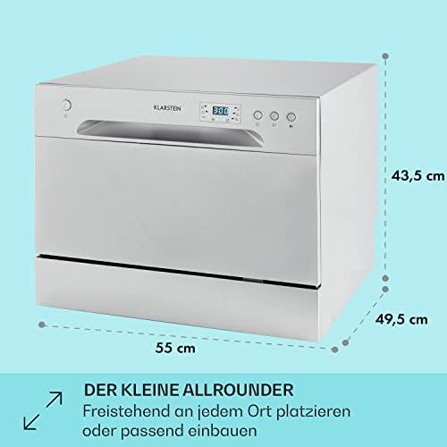 Klarstein Amazonia 6 Argentea Spülmaschine Tischgeschirrspülmaschine Silber - 5