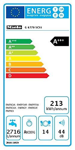 Miele G6770 SCVi D ED230 2,0 Geschirrspüler Vollintegriert / A+++ – 213 kWh – 14 MGD – Alles restlos trocken – AutoOpen-Trocknung - 3