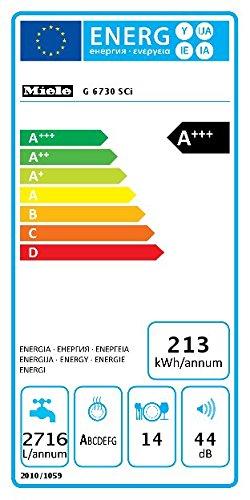 Miele G6730 Sci D ED230 2,0 clst Geschirrspüler Teilintegriert / A+++ / 213 kWh / 14 MGD / QuickPowerWash / Alles restlos trocken - 4