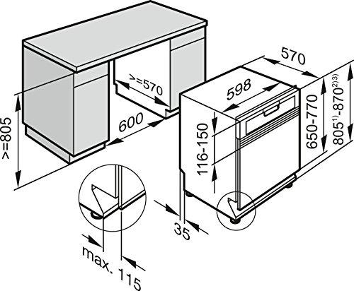 Miele G6730 Sci D ED230 2,0 clst Geschirrspüler Teilintegriert / A+++ / 213 kWh / 14 MGD - 5